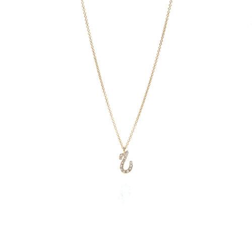 Tiny Treasures Farsi - Arabic Initial Pave Necklace