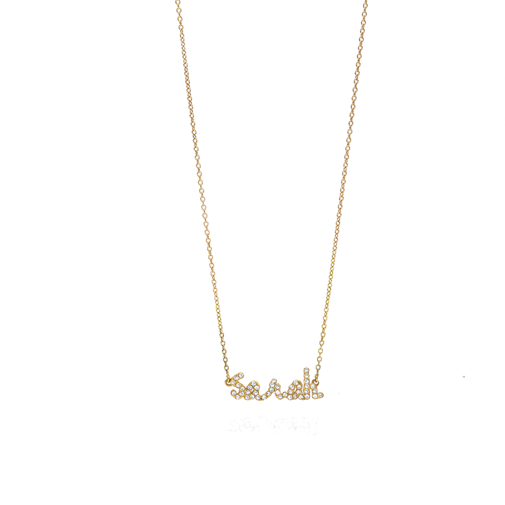 Tiny Treasures English Diamond Name Necklace