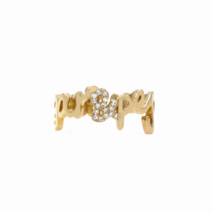Tiny Treasure Double Name Ring