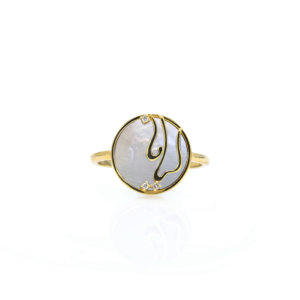 Gold Persian - Arabic Name Ring On Stones