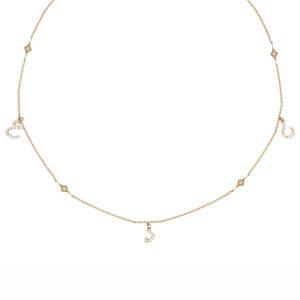 Tiny Treasures Persian – Arabic Triple Initial Necklace