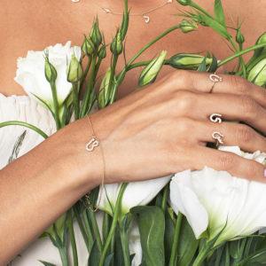 Tiny Treasures Farsi – Arabic Initial Pave Bracelet