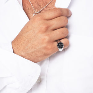 Mens Persian – Arabic Name Ring On Stones