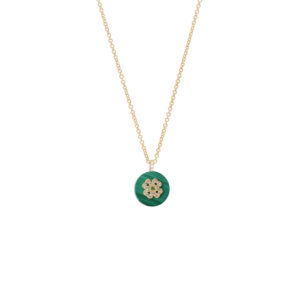 Co-exist – Four Clover on Gemstone Necklace