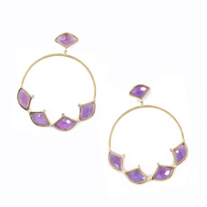 Kashan Half Rose Hoops