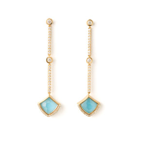 Kashan Diamond Line Earrings