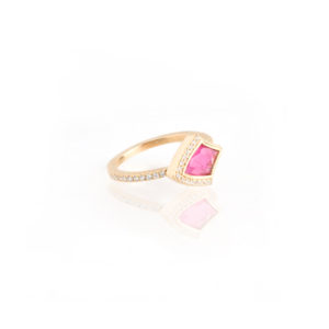 Kashan Small Single Ring in Pink