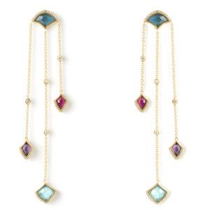Kashan Triple Drop Earrings