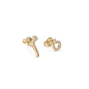 Persian – Arabic Initial Gold Studs