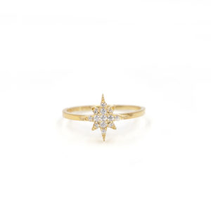 Star dust pave ring