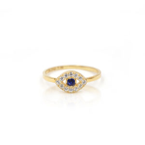 Eye of evil pave ring