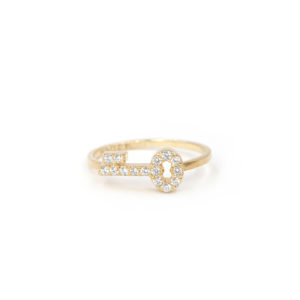 Secret Key pave ring