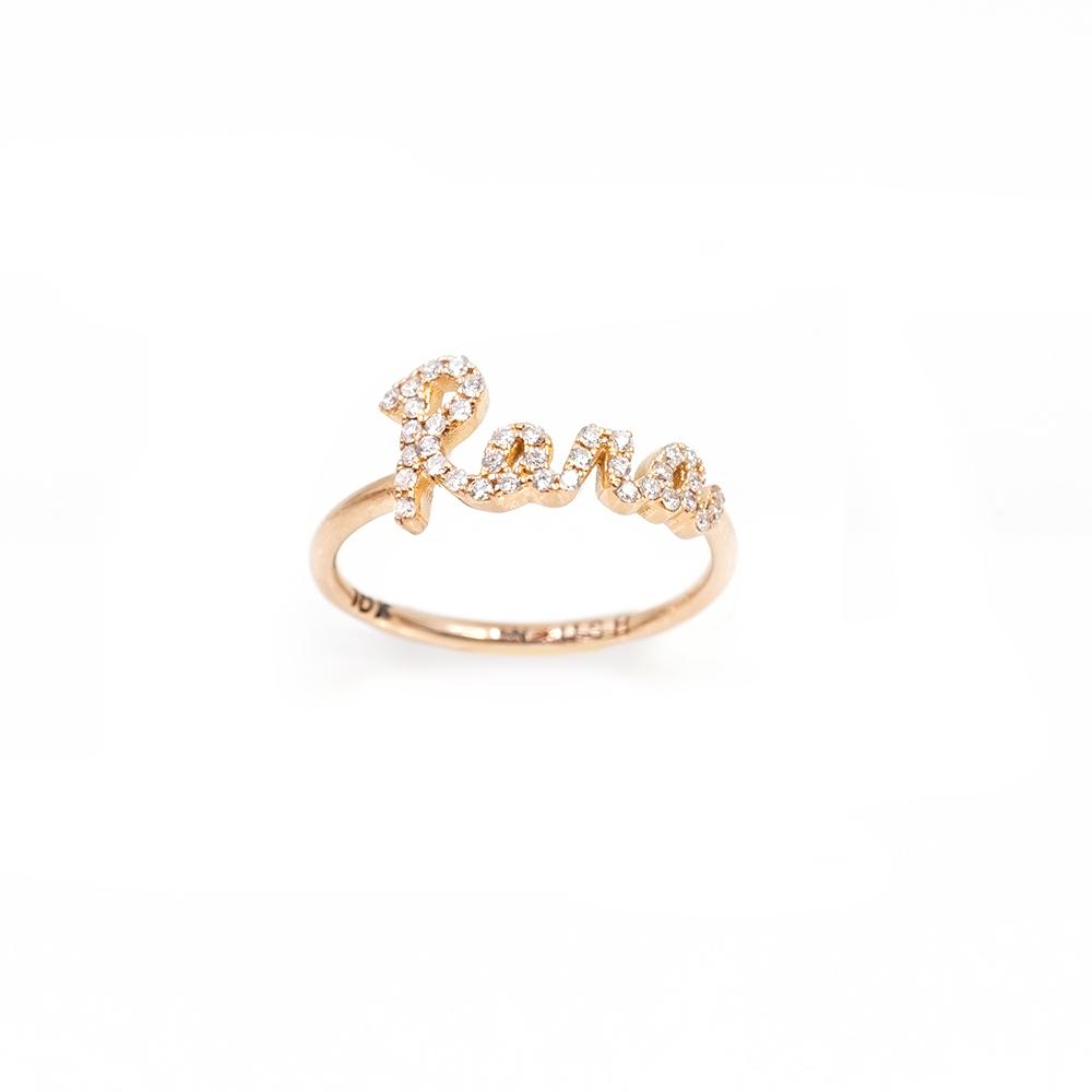 Call my name Pave diamond name Ring