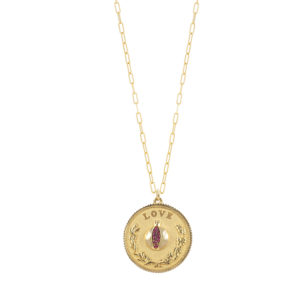 SHIVA medallion necklace, LOVE