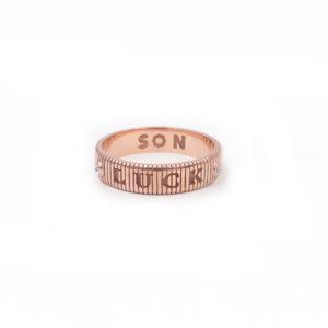 SHIVA coin ridge ring, LUCK