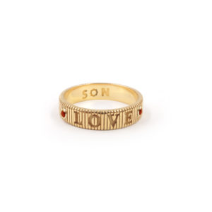 SHIVA coin ridge ring, LOVE