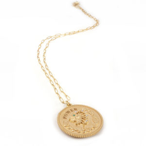 SHIVA medallion necklace, POWER
