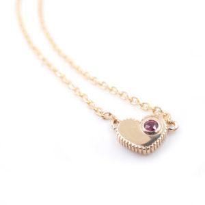 Daric Coin Edge Tiny Heart Necklace
